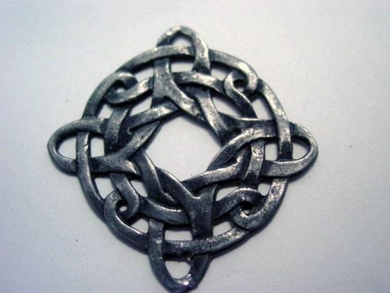 Vintage Celtic Pendant Signed R C 91 Sterling Silver Father
