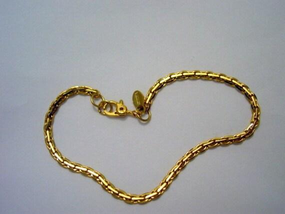 vintage monet bracelet gold tone chain bracelet designer