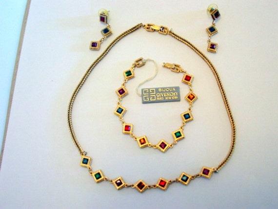 Friperie Bijoux Vintage Paris : Vintage givenchy parure signed designer bijoux paris