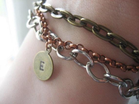 Mixed metal chain bracelet Custom