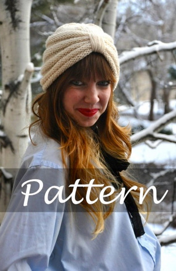 KNIT PATTERN for The Purl Knit Turban
