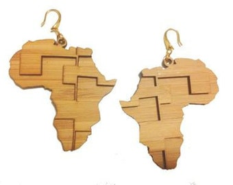 Digital Africa Bamboo Earrings KSE121002