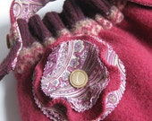 SWEATER PURSE - recycled magenta wool purse - Lynn Minney Designs
