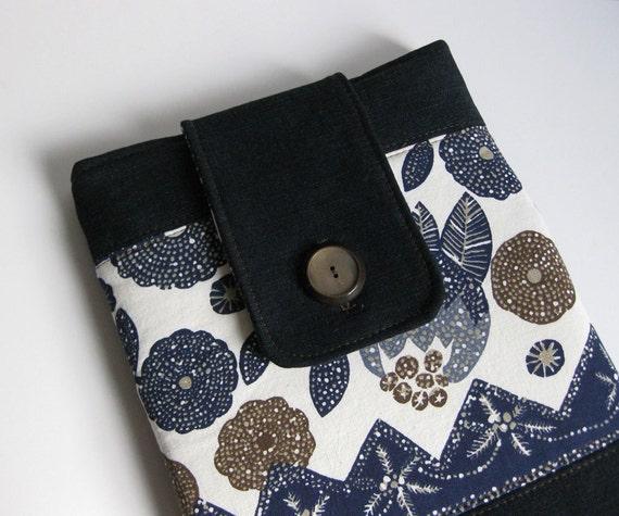 LAPTOP CASE 13 macbook air recycled blue denim by Lynn Minney Designs