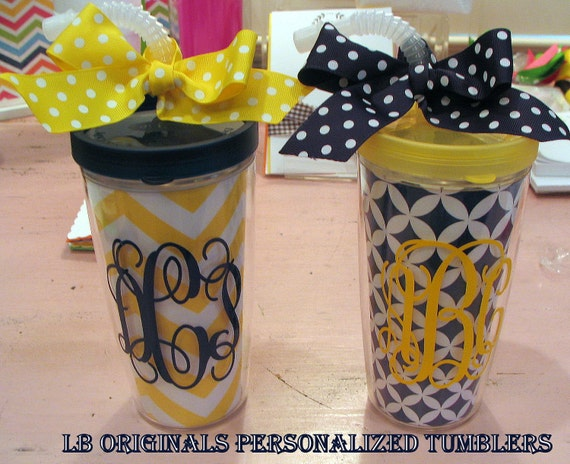 Personalized Tumbler with Flexible straw