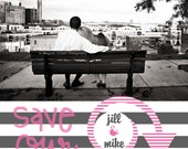Save the Date Magnets- Love of Stripes Design