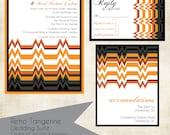 Wedding Invitation Suite - Retro Tangerine