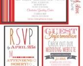 Wedding Invitation Suite- Shades of Love Design