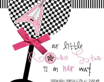 Little Rock Star Baby Shower Invites (20 printed)