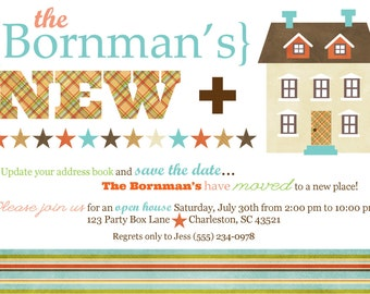 New Home Open House Party Invite (20 printed 5 x7)