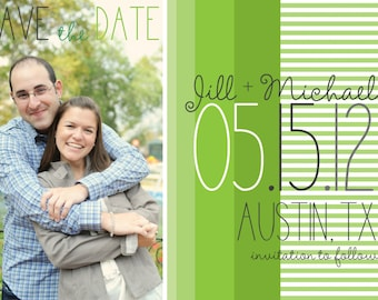 Save the Date Magnets- Shades of Green