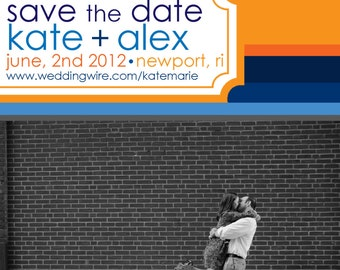 Save the Date Magnets- Nautical-esque Design