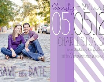 Save the Date Magnets: Shades of Purple Design