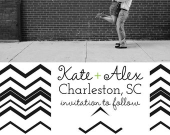 Magnet Save the Dates: Zig Zag Love Design