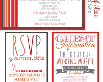 Wedding Invitation Suite- Shades of Love Design
