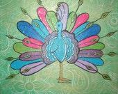 Proud Peacock Indian Nursery Painting