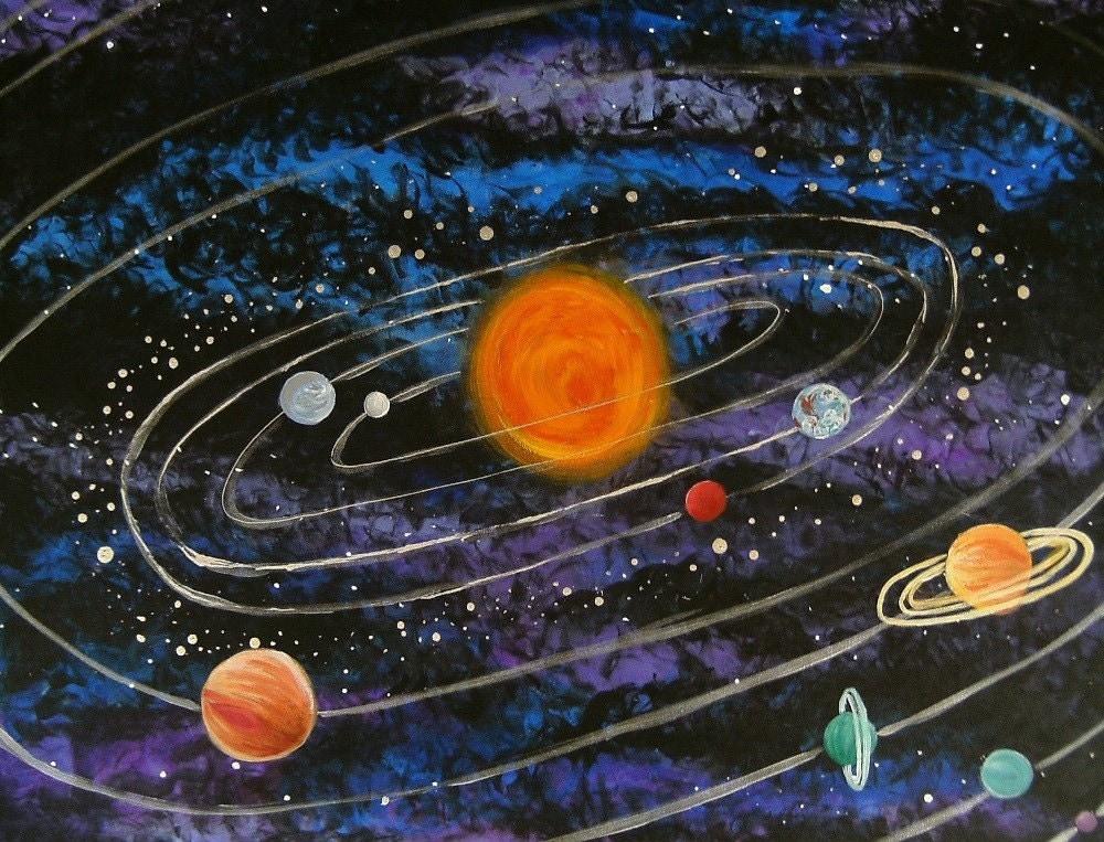 Solar System Acrylic Painting