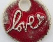 LOVE pendant NECKLACE or Tie on BRACELET