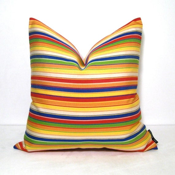 Colorful Outdoor Pillow Cover Yellow Modern by Mazizmuse