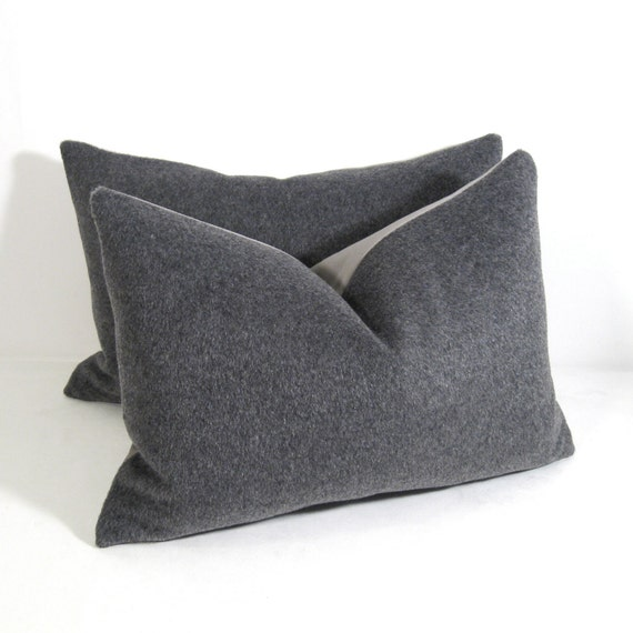 Mohair Grey Pillow Cover Decorative Gray Cushion Modern