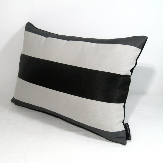SALE Black White Gray Pillow Cover Modern Outdoor Cushion