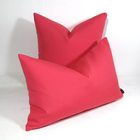 Hot Pink Outdoor Throw Pillows : Hot Pink Outdoor Pillow Cover Indoor Decorative by Mazizmuse