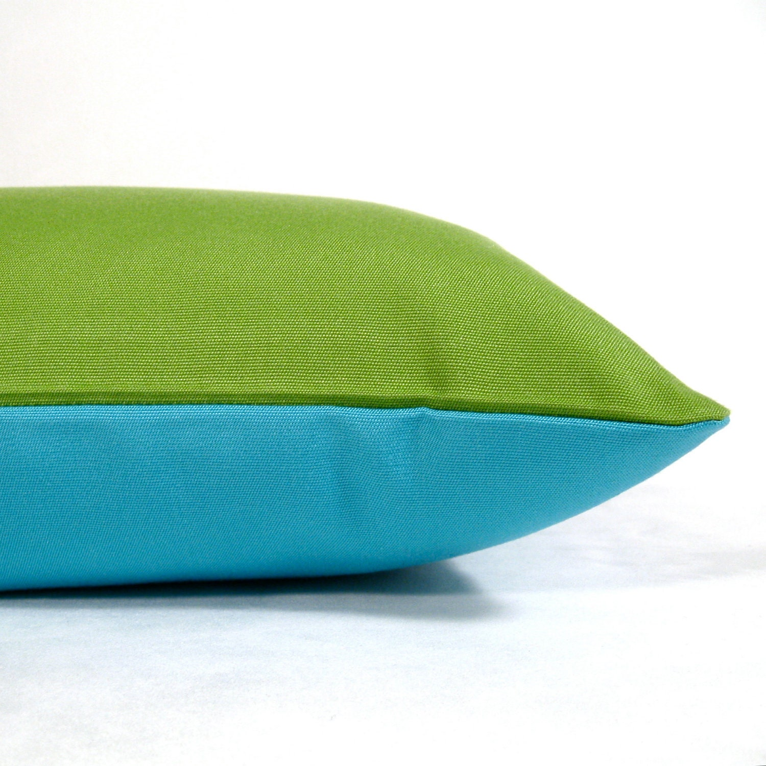 SALE Blue Pillow Cover Green Outdoor Cushion by Mazizmuse