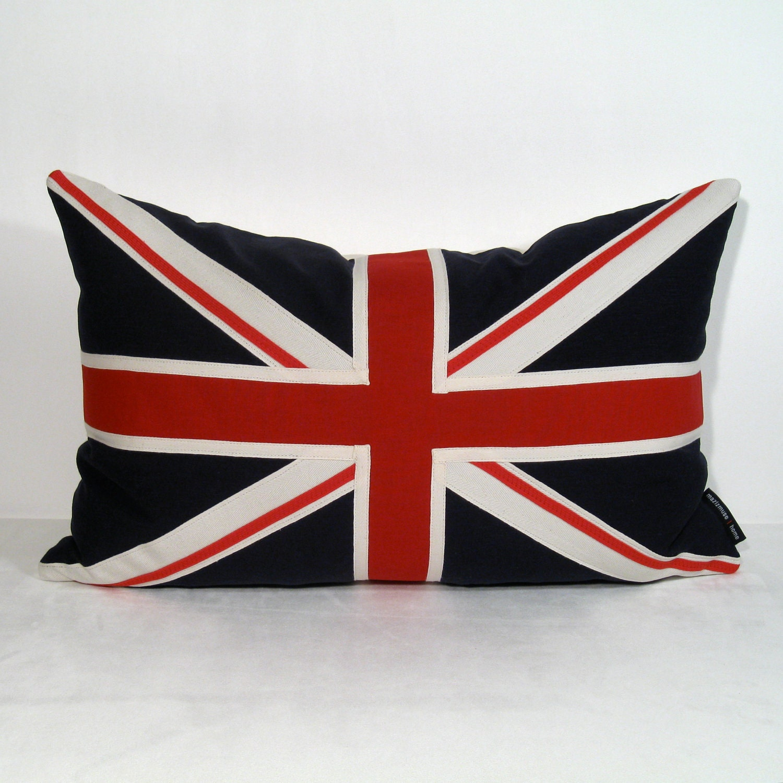 Union Jack Pillow British Flag Red White