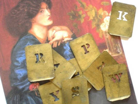 Vintage Brass Letter Stencils - Choose One or More