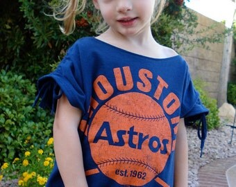"""The UPCycled Slouchy T Shirt """"Houston Astros"""" Baseball No. 4 SIZE 3/4"""