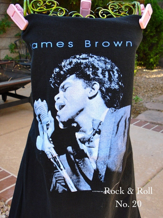 James Brown t shirt UPCYCLED into the STYLE of YOUR Choice