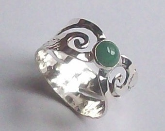 silver ring with filigre