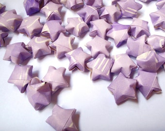 80 Origami Lucky Stars - Lilac
