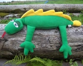 LIZARD SOFT TOY in fleece fabric