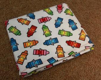 Crazy Crayons Receiving Blanket