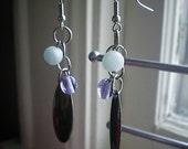 crash into me - earrings - dangle - blue - purple - statement