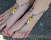 Sunflower Lined Path. Go Barefoot Collection. Barefoot Sandals