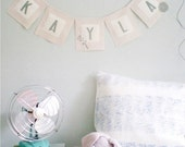 Personalized Linen Banner (Bunting) for displaying CUSTOM TEXT