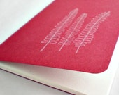 Watermarked Small Moleskine Cahier Journal in Cranberry