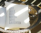 The Simple List Modern Linen Pillow Cover by indobay