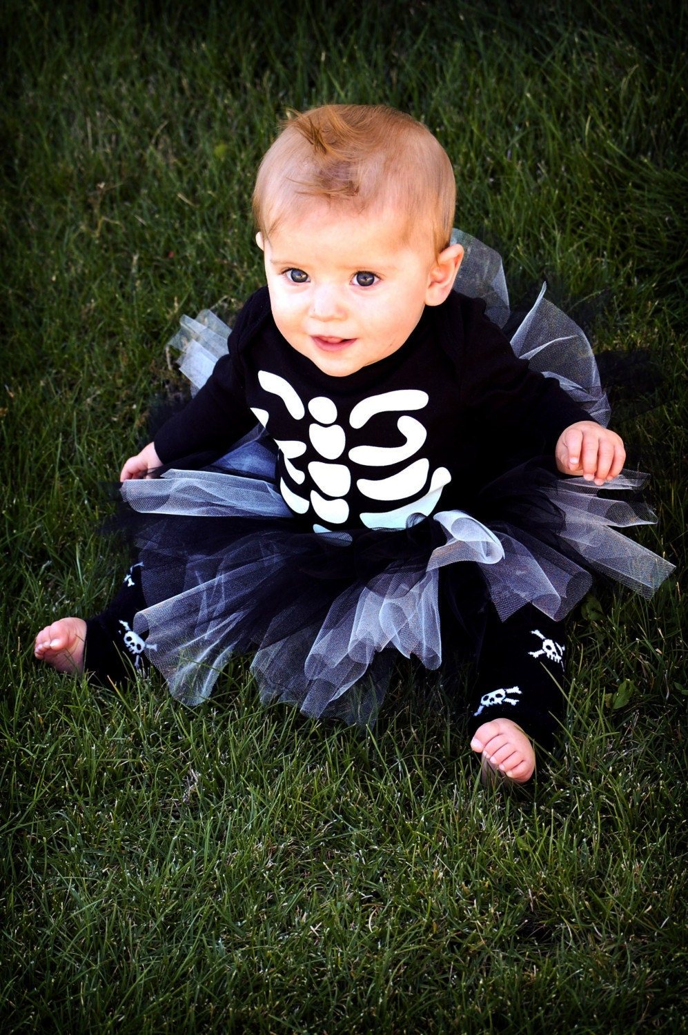 baby halloween tutu costume skeleton. Black Bedroom Furniture Sets. Home Design Ideas