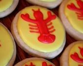 Lobster cookies - Two dozen clambake summer fun cookies