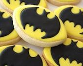 Batman or Batgirl Superhero cookie favor - one dozen