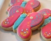 Butterfly cookie favor - spring - one dozen