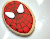 Super hero Spiderman cookie favors - one dozen Yummy Delicious Cookies