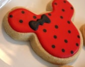 One dozen Mouse Ears Silhouette Yummy Delicious Cookie Favors Mickey