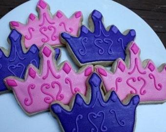 Princess Crown Tiara Royal Birthday cookie favors One Dozen