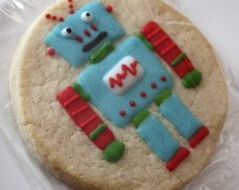 CUSTOM Robot Cookie Favors - two dozen