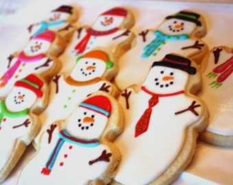 Frosty the Snow People - One dozen cookie favors