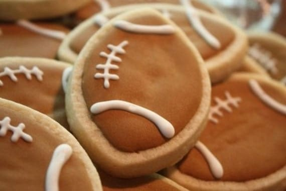 Football Tailgate Party Cookie Favors - one dozen